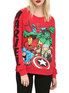 Marvel Avengers Girls Pullover Top, , hi-res - Visit to grab an amazing super hero shirt now on sale! Marvel Avengers, Moda Marvel, Avengers Girl, Avengers Outfits, Marvel Kids, Grunge Style, Style Indie, Soft Grunge, My Style