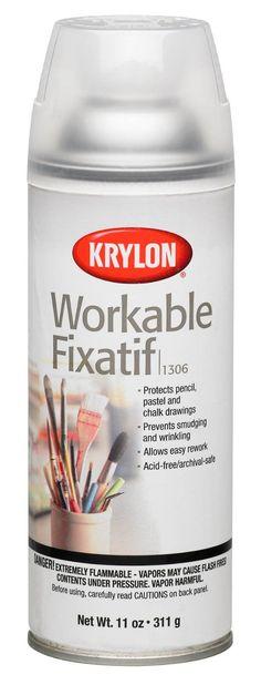 Amazon.com: Krylon 1306 Workable Fixatif Spray Clear, 11-Ounce Aerosol: Home Improvement