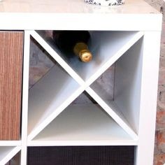 Nice IKEA hack - create a wine rack with IKEA expedit. It´s called Divide X!