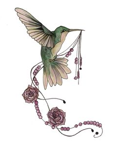 Humming rose - tattoo design by ~TickTock-Neko on deviantART