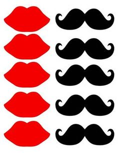 lip and mustache templates - Bing Images