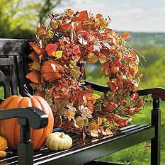 Fall Decorations - Fall Wreaths - Autumn Decorations - Grandin Road