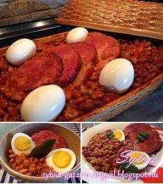 Sólet római tálban Bacon, Breakfast, Food, Morning Coffee, Essen, Meals, Yemek, Pork Belly, Eten