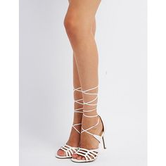 Laser Cut Ankle Wrap Sandals