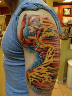 The Flash tattoo by Moses Veliz, Dallas TX #theflash #tattoo