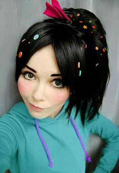 I love Vanellope from new cartoon Wreck-It Ralph! c: Our characters are very similar x) So.This is my first Vanellope test-cosplay ) Vanellope von Schweetz cosplay Disney Cosplay, Cosplay Anime, Epic Cosplay, Amazing Cosplay, Disney Costumes, Cool Costumes, Cosplay Girls, Costume Ideas, Superhero Cosplay