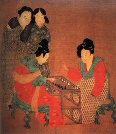 Damen beim Triktrakspiel - Zhou Fang (周昉)