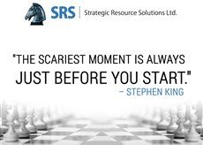 """""""The scariest moment is always just before you start."""" – Stephen King"""
