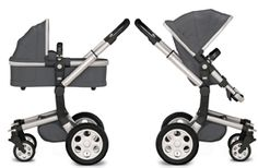 My Pram - Joolz Day with silver chassis and anthracite fabric