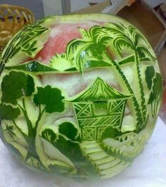 Amazing watermelon art ~ fruit art
