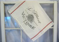 Shabby Chic French Kitchen Towel  French Towel  by PeacockAttic, $10.00