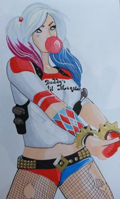 Help me celebrate my birthday! Use the coupon 'HIPHIPHOORAY' in the checkout to get 20% off all items! https://www.etsy.com/au/listing/247146993/harley-quinn-comic-print-or-original