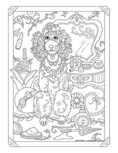 Poodle Pampered Pets Coloring Book I Marjorie Sarnat