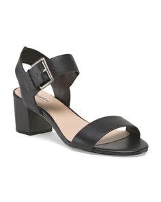 Leather Low Heel Sandal
