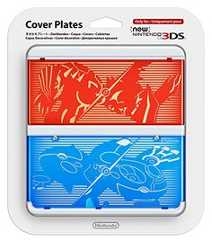 New Nintendo 3DS Cover Plate No. 40 - Pokemon Omega Ruby and Alpha Sapphire