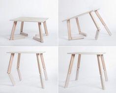 Mesa Bambi, a mesa dobrável articulada