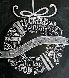 bb posted Chalkboard Christmas Card Chalk Art Holiday by LilyandVal to their -christmas xmas ideas- postboard via the Juxtapost bookmarklet. Christmas Time Is Here, Noel Christmas, All Things Christmas, Christmas Wreaths, Christmas Crafts, Cottage Christmas, Christmas Scripture, Christmas Signs, Christmas Song Quotes