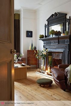 New Free of Charge Fireplace Hearth dark Thoughts An Eclectic Edwardian House in South London — Heart Home Home Living Room, Living Room Designs, Living Room Decor, Dark Wood Furniture Living Room, Bedroom Furniture, Stain Furniture, Corner Furniture, Decor Room, Garden Furniture