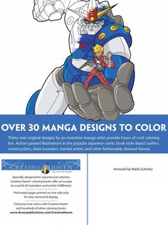 Welcome to Dover Publications Creative Haven Manga Coloring Book