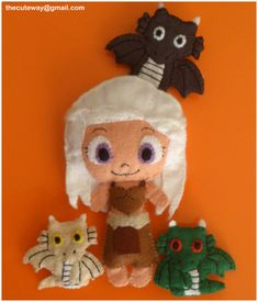 .:Dany and the dragons:. felt plushies by ~SaMtRoNiKa on deviantART