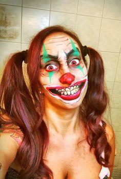Horror clown! Halloween make up!