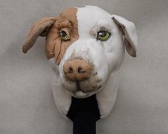 puppets in a bag: Custom golf cover - Dog portrait