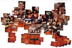 scrabble game photo montage by david hockney