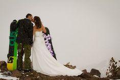 Tips for creating a snowboard wedding. http://www.theweddingpartyshow.com/blog/38-idaho-wedding/580-snowboard-themed-wedding-in-idaho