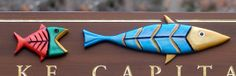 This fun property sign features sculpted add on fish together with incise carved and gilded lettering and border. Property Signs, Fish Artwork, Lake House Signs, Fishing Signs, Home Signs, Carving, Christmas Ornaments, Detail, Holiday Decor