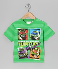 Take a look at this Mint Stripe TMNT Tee - Kids on zulily today!