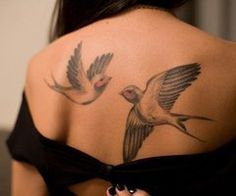 swallows tattoo beauty ink love