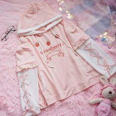 Harajuku Fashion, Kawaii Fashion, Cute Fashion, Fashion Outfits, Fashion Styles, Pink Outfits, Cool Outfits, Pastel Hoodie, Looks Kawaii