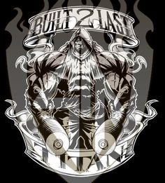 Built 2 Last Titan Muscle Bodybuilder, Gym Logo, Lion Pictures, Veneno, Beast Mode, Powerlifting, Tee Design, Creative Art, Dean