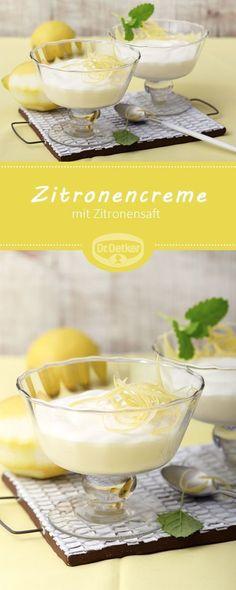 Zitronencreme: Ein Dessert für viele Gelegenheiten mit Zitronensaft - in der Trendfarbe Meadowlark