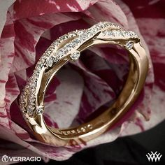 20k Rose Gold Verragio Braided Diamond Wedding Ring from the Verragio Insignia Collection. If he got me Just a band-- I LOOVEE this one ALOT!