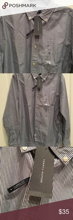 Tommy Blue stripped Shirt Tommy Hilfiger blue stripped shirt.  A classic with a pair of jeans 👖Great looking!  A must have for that sexy guy. Tommy Hilfiger Shirts Casual Button Down Shirts