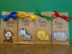 Zoo Animal Small Treat or Favor Bags on Etsy, $24.00