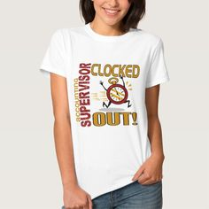 Accounting Supervisor Clocked Out T Shirt, Hoodie Sweatshirt