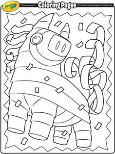 color this playful piata in celebration of cinco de mayo free printable coloring pages