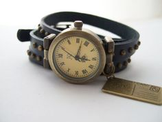 Armbanduhren - Uhr Wickelarmband POSTKARTE - ein Designerstück von Aledani bei DaWanda