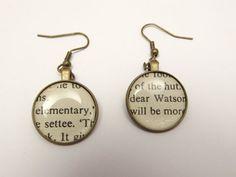 Sherlock Holmes 'elementary Watson' quote by retrobeadsandbangles on etsy