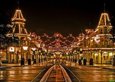 Main Street, USA at Christmas....so pretty