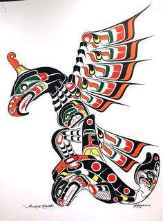 I wpuld love to learn this style and tatttoo?Native American Style Thunderbird by Bob King.