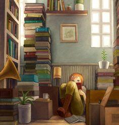 Jovencita leyendo