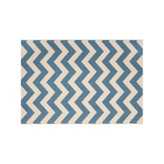 Safavieh Courtyard Zigzag Chevron Indoor Outdoor Rug, Blue, CY6244-243-6 #OutdoorRugs