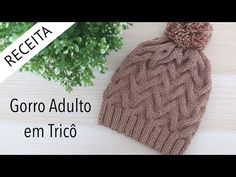 Gorro Adulto em Tricô - Passo a passo por Rosiene - YouTube Barbie, Crochet Baby, Knitted Hats, Diy And Crafts, Winter Hats, Unisex, Knitting, Creative, Blog