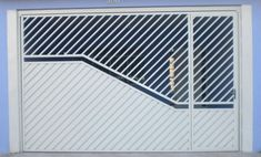 portão-vasculante Steel Gate Design, Fence Design, Door Design, House Design, Modern Main Gate Designs, Simple Gate Designs, Grill Gate, Front Gates, Metal Screen
