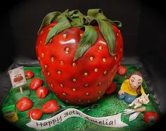 Amelia and the Giant Strawberry cake