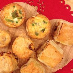 Fuddle Bakes! Chorizo & Cheese Scones, Veggie Omlettes & Poek and Apple Sausage Rolls x