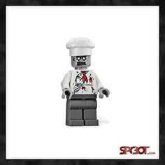 LEGO Monster Fighters ZOMBIE CHEF, COOK from Haunted House 10228 - NEW #zombie #lego #legoZombie #food #ebay #ebayLego